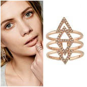 Rose gold spear ring was £29 now £15