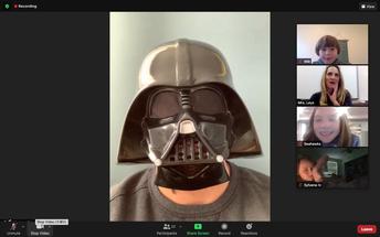 Darth Vader Visits for Mystery Reader
