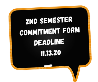 Second Semester Learning Commitment Form Due 11/13