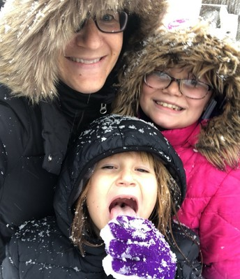 Mrs. Connaughty and her daughters! Snow Ready!