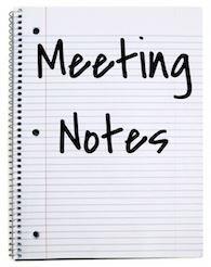 PTA MEETING NOTES