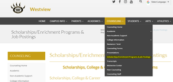 Looking for Scholarship Information, Enrichment Programs or Job Opportunities?