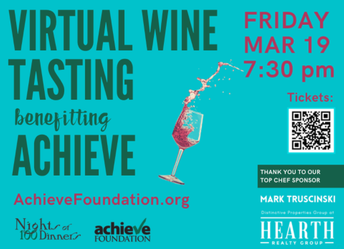 Achieve Nights of 100 Dinners Virtual Kickoff Friday, March 19th at 7:30 pm