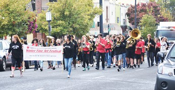 AHS Band in the Homecoming Parade