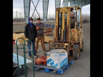 Preparing the NPHS Ice Rink