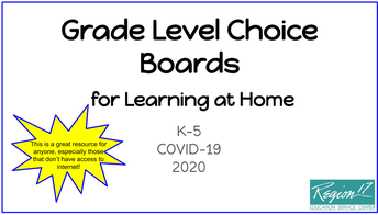 K-5 Math Choice Boards