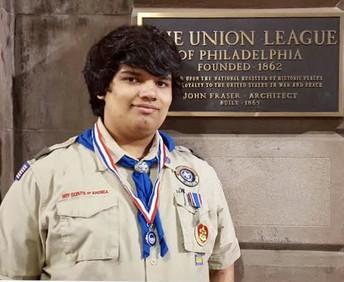 Troop 55 Scout receives Union League's 'Good Citizenship Award'