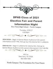 DPHS Class of 2021 Elective Fair and Parent Night