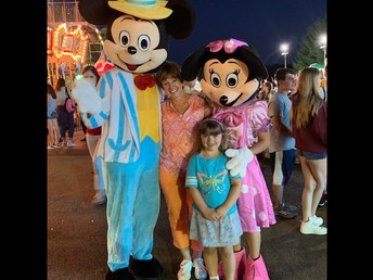 We cannot resist a photo with Mickey and Minnie!