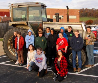 Tractor at school in the Oley Valley? Go figure!
