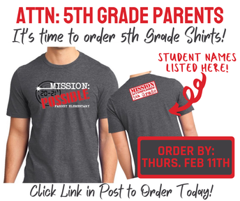 Order 5th grade shirt