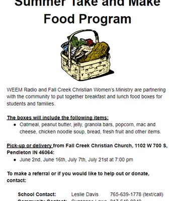 Summer Take & Make Food Program