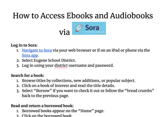 Ebook and Audiobook Access