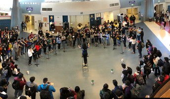 AHS Band performs during lunch