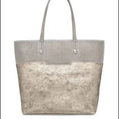 Hudson Tote medium, slate gray/metallic- $148