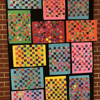 "4th grade ""Textured Weavings"""