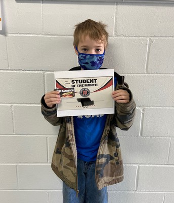 3rd Grade Student of the Month