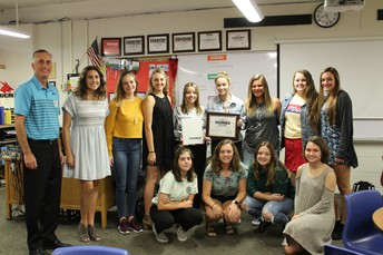 YEARBOOK RECEIVES AWARD