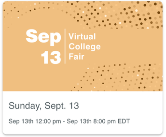 SAVE THE DATE: NACAC Virtual College Fairs Start Sept. 13