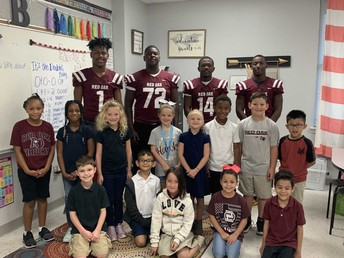 ROHS football players visited ROE on Friday!