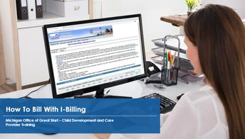 woman on laptop on I-Billing website