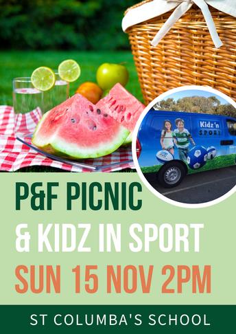 P & F Community Picnic - 15 November