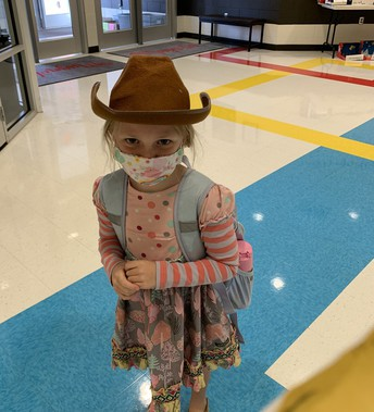 Student in cowboy hat