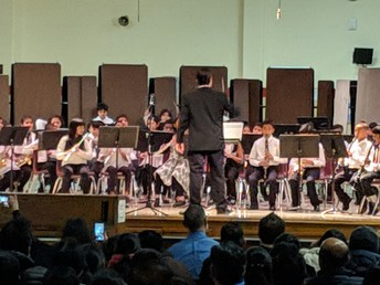Members of the band and orchestra