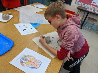 Chardon Middle School 5th-grade student - Mrs. Heron's art class