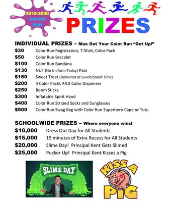 Color Run Prizes