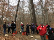 Students examine the health of a local ecosystem.