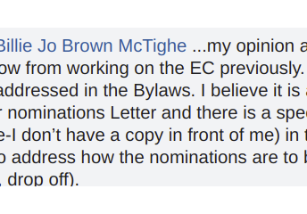What does the chair of the E/ C have to say about the comments?