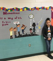One of the 6 Principles murals designed and painted by students