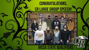Large Group Speech's Readers' Theatre Advanced to State Speech