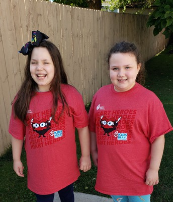 Mackenzie and Gia Rocking the Jump Rope for Heart Shirts!