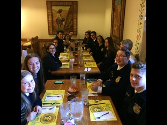 Enjoying dinner at Casa Molina on our last night at State Leadership Conference.