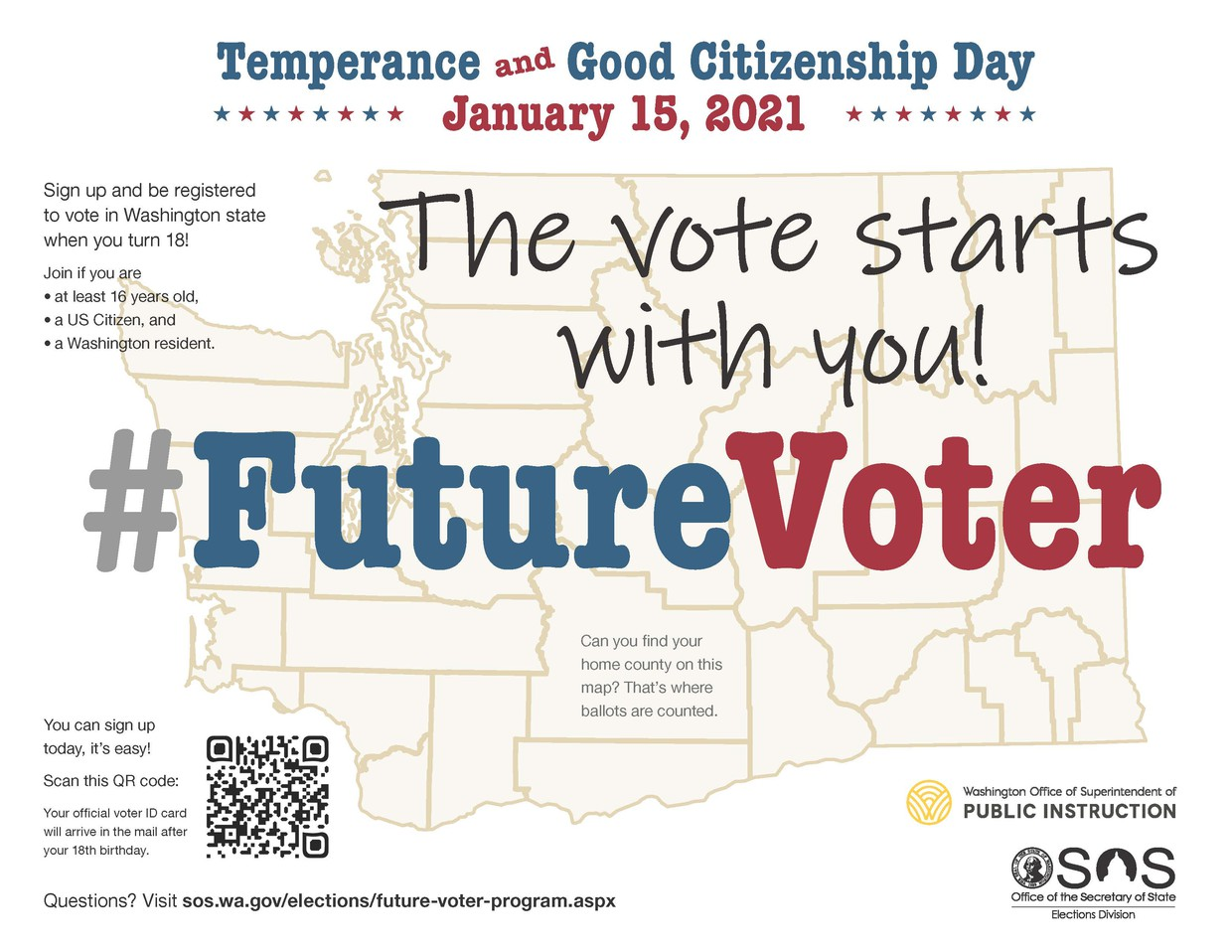 Temperance and Good Citizenship Day January 15, 2021