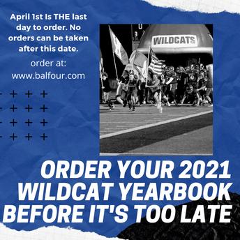 Order your 2021 Wildcat Yearbook