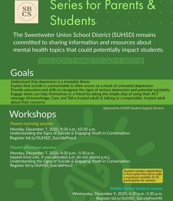 Suicide Prevention Class