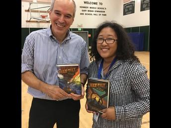 Ms. Harris and Author Peter Lerrangis