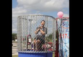 Mrs. Floyd in the Dunk Tank