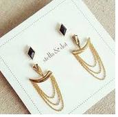 Drape Ear Jackets - Gold
