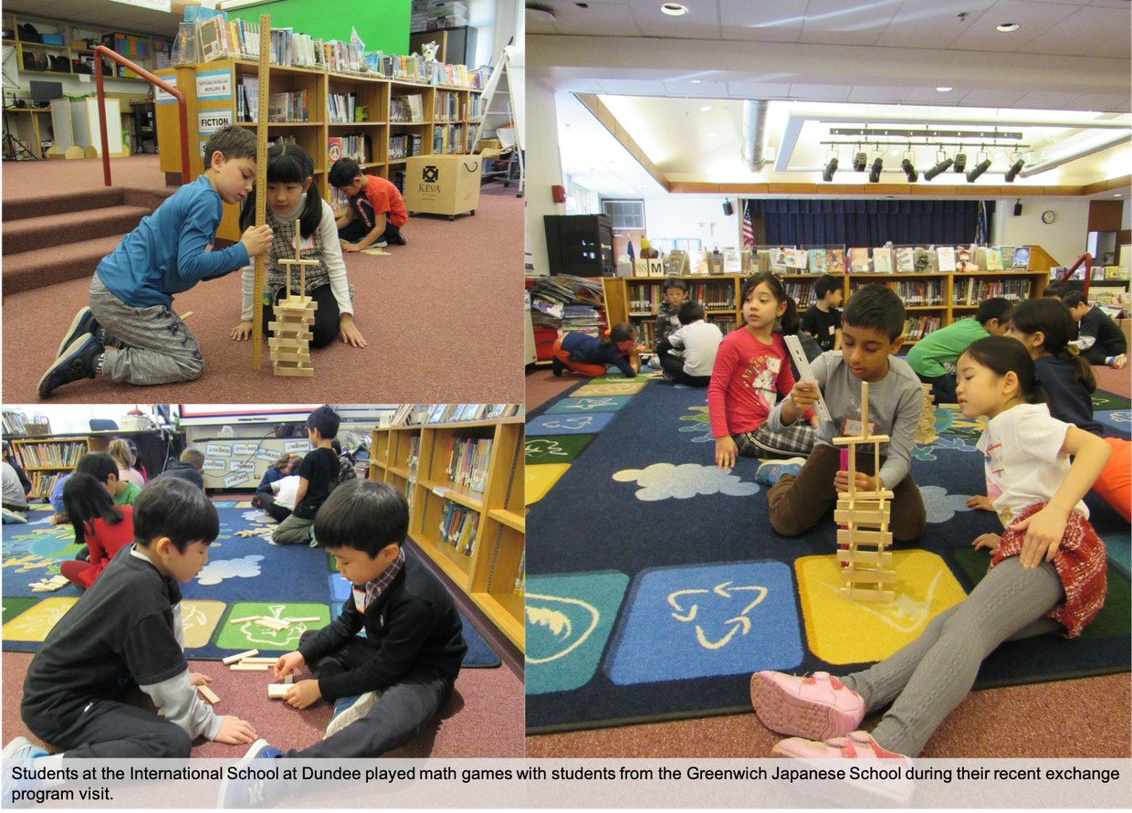 ISD students shared a visit with students from the Greenwich Japanese School as part of their exchange program