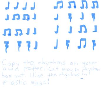 1st/2nd grade rhythms