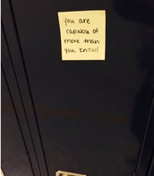 Positive Post-its Go on Lockers