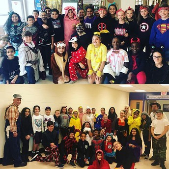 Students in the Halloween Spirit