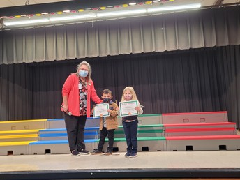 3rd Nine Weeks PK3 p.m. Perfect Attendance Award Winners