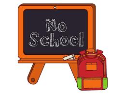 Reminder!!  No School:  Tomorrow, Friday, October 10th & Monday, October 14th!