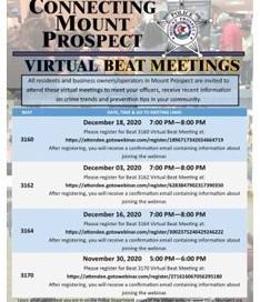 MPPD Virtual Beat Mtgs.