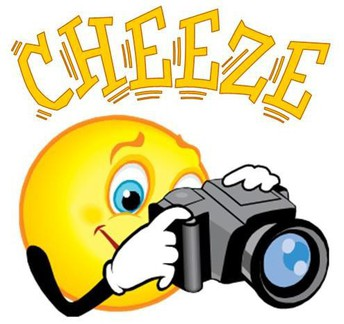 sun taking picture with camera saying cheeze